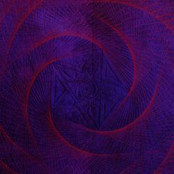 Quilt Rosa Celeste nach der Raumgeradenfigur Erde-Venus-Venusrotation, Ausschnitt 1