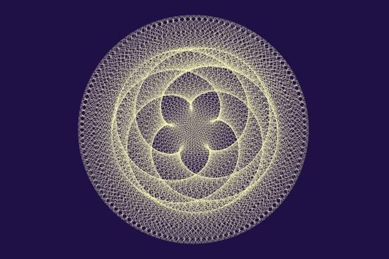 Raumgeraden (gedachte Verbindungslinien) Venus-Erde, im Abstand von 3 Tagen kontinuierlich aufgetragen, 1000 mal. Heliozentrische Darstellung.