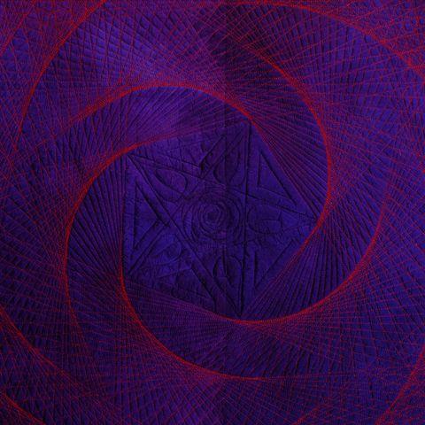Quilt Rosa Celeste nach der Raumgeradenfigur Erde-Venus-Venusrotation, Foto