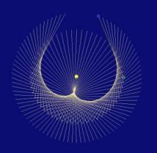 Raumgeradenfigur Venus-Erde in der Entwicklung, Bild 2